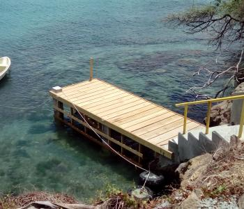 Dinghy dock and boat